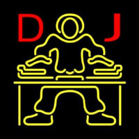 Red DJ Disc Jockey Music Neon Sign