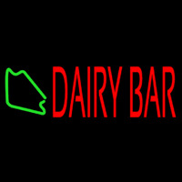 Red Dairy Bar Neon Sign
