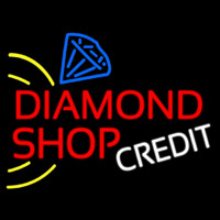 Red Diamond Shop Neon Sign