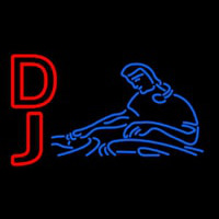 Red Dj Blue Neon Sign