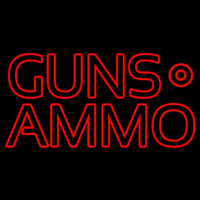 Red Guns Ammo Neon Sign