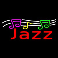 Red Jazz With Musical Note 2 Neon Sign