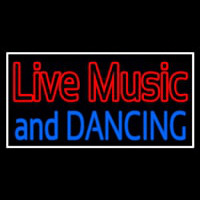 Red Live Music Blue And Dancing 1 Neon Sign