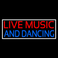 Red Live Music Blue And Dancing 2 Neon Sign