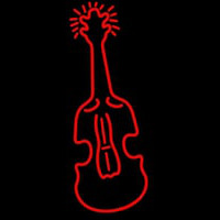 Red Logo Violin Neon Sign