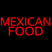 Red Me ican Food Neon Sign