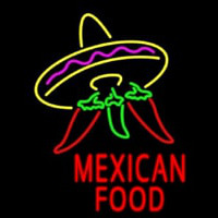 Red Mexican Food Logo Neon Sign