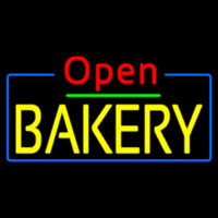 Red Open Yellow Bakery Neon Sign