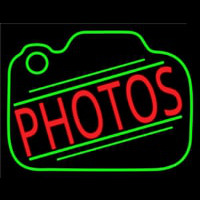 Red Photos Camera Neon Sign