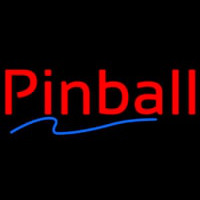 Red Pinball Blue Line Neon Sign