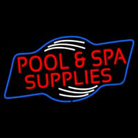 Red Pool And Spa Supplies Neon Sign