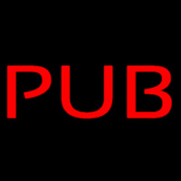 Red Pub Neon Sign