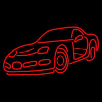 Red Racing Car Neon Sign