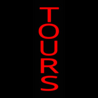 Red Vertical Tours Neon Sign