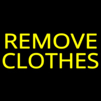 Remove Clothes Neon Sign