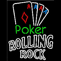 Rolling Rock Poker Tournament Beer Sign Neon Sign