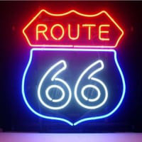 Route 66 Pub Store Display Garage Neon Sign
