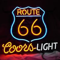 Route 66 Coors Light Neon Sign
