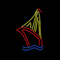 Sailboat Real Neon Sign