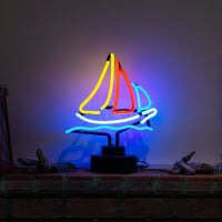 Sailling Boat Desktop Neon Sign