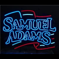 Samuel Adams Flag Neon Sign