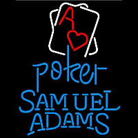 Samuel Adams Rectangular Black Hear Ace Beer Sign Neon Sign