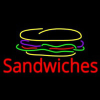 Sandwiches With Sandwich Logo Neon Sign