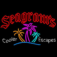 Seagrams Wild Berry Margarita Strawberry Daiquiri Wine Coolers Beer Sign Neon Sign