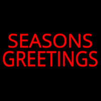 Seasons Greetings Block Neon Sign