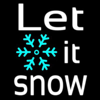 Sign Let It Snow Neon Sign