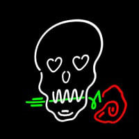 Skull With Rose Neon Sign