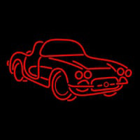 Sport Red Car Logo Neon Sign