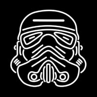 Star Wars Storm Trooper Helmet Neon Sign
