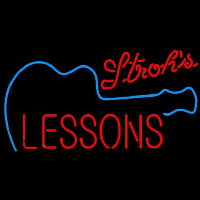 Strohs Guitar Lessons Beer Sign Neon Sign