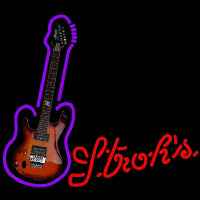 Strohs Purple Guitar Beer Sign Neon Sign
