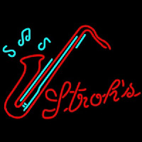 Strohs Saxophone Neon Sign