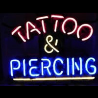 Tattoo and Piercing Parlor Neon Sign