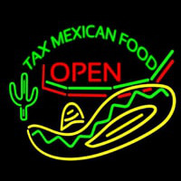 Ta  Me ican Food Open Neon Sign