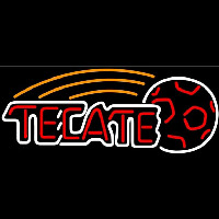Tecate Soccer Ball Beer Sign Neon Sign