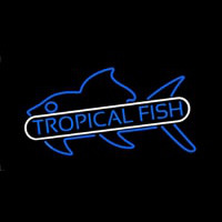 Tropical Fish Blue Neon Sign