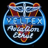 Velte  Aviation Gasoline Neon Sign
