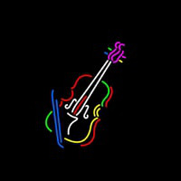 Violin With Logo Neon Sign