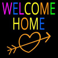 Welcome Home Neon Sign