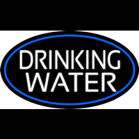 White Drinking Water Neon Sign