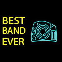 Yellow Best Band Ever Neon Sign