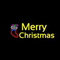 Yellow Merry Christmas Neon Sign