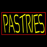 Yellow Pastries With Red Border Neon Sign
