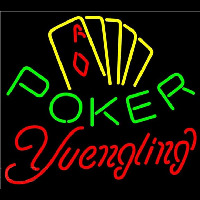 Yuengling Poker Yellow Beer Sign Neon Sign