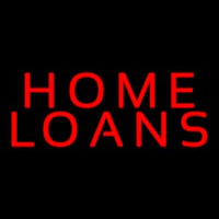 Red Home Loans Neon Sign
