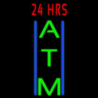 24 Hrs Atm Neon Sign
